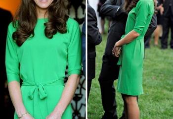 Выбор звезд - зеленые платья