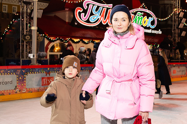 Надежда Михалкова с сыном Ваней