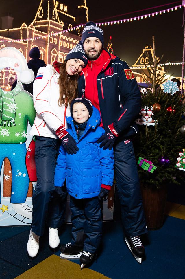 Денис Клявер с женой Ириной и сыном Даниэлем